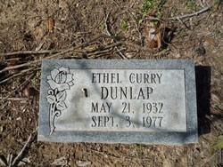 Ethel <i>Curry</i> Dunlap