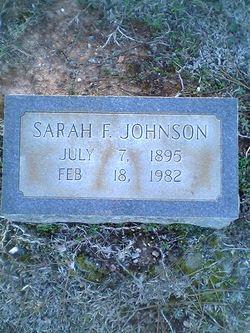 Sarah B <i>Florence</i> Johnson
