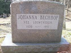 Johanna <i>Loewenstein</i> Bechhof