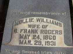 Mollie <i>Williams</i> Rogers
