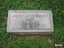 Annie Laurie <i>Hanner</i> Bain