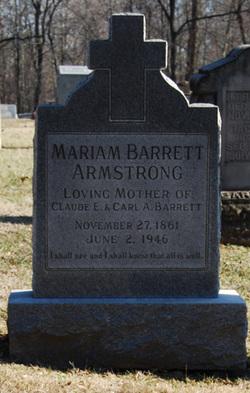 Mariam <i>Barrett</i> Armstrong