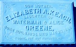 Elizabeth A <i>Greene</i> Keach