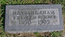 Hannah E. <i>Chase</i> Ruscher