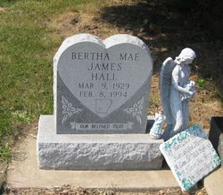 Bertha Mae <i>James</i> Hall