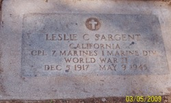 Corp Leslie Charles Sargent