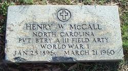 Henry W McCall