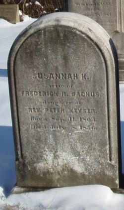 Susannah K <i>Keyser</i> Backus