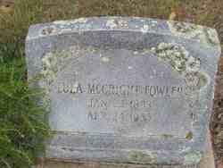 Lula <i>McCright</i> Fowler