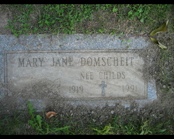 Mary Jane <i>Childs</i> Domscheit