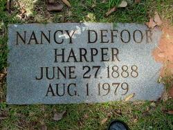 Nancy Melissa Melvina <i>Defoor</i> Harper