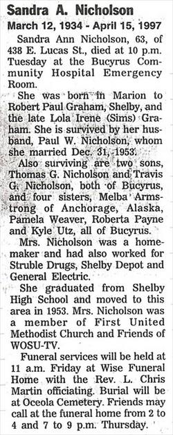 Sandra Ann <i>Graham</i> Nicholson