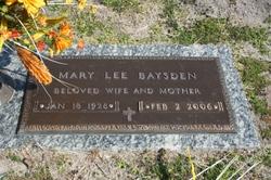 Mary Lee <i>Thomas</i> Baysden