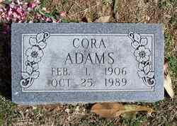 Cora Tennessee <i>White</i> Adams