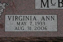 Virginia Ann <i>Shannon</i> McBurney