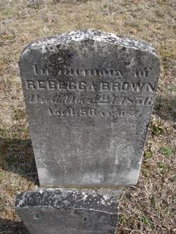 Rebecca <i>Bowers</i> Brown