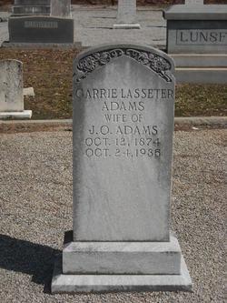 Carrie <i>Lasseter</i> Adams