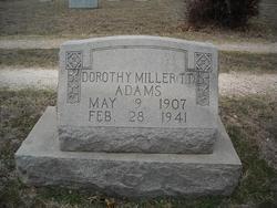 Dorothy Ellen <i>Miller</i> Adams