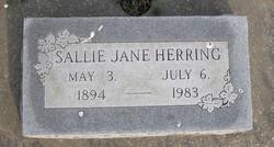Sallie Jane <i>Dobbins</i> Herring