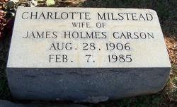 Charlotte <i>Milstead</i> Carson