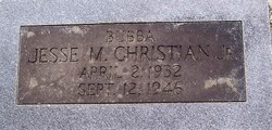 Jesse M Bubba Christian, Jr
