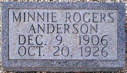 Minnie <i>Rogers</i> Anderson