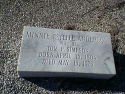 Minnine Estelle <i>Anderson</i> Simpson