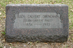 Eliza Caroline Lida <i>Calvert</i> Obenchain