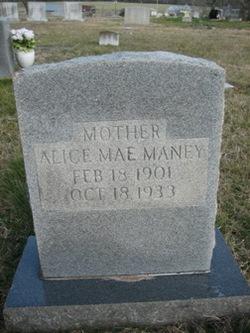 Alice Mae <i>Smith</i> Maney