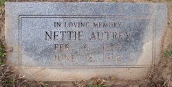Annettie Elizabeth Nettie <i>Brunson</i> Autrey