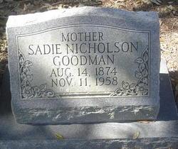 Sadie <i>Nicholson</i> Goodman
