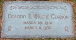 Dorothy E. <i>Wright</i> Clauson