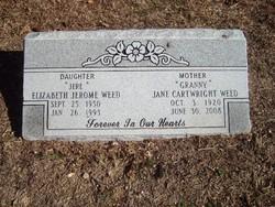 Jane <i>Cartwright</i> Weed