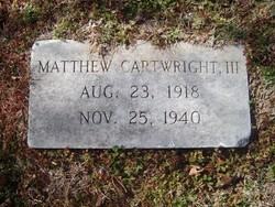 Matthew Cartwright, III