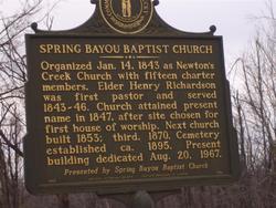 Spring Bayou Baptist Church Cemetery
