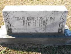 Tillie <i>Robinson</i> Baine