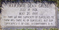 Marjorie Dean <i>Smith</i> Grube
