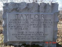 Sarah Elizabeth Sally <i>Best</i> Taylor