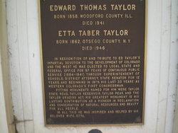 Edward Thomas Taylor