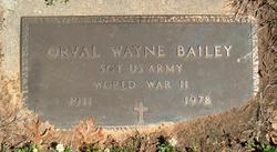 Sgt Orval Wayne Bailey