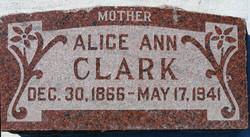 Alice Ann <i>Craig</i> Clark