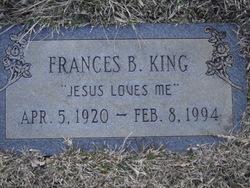 Frances B King