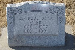 Gertrude Anna Gertie Cler