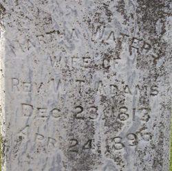 Martha <i>Waters</i> Adams