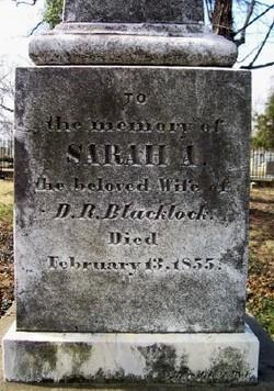 Sarah A Blacklock