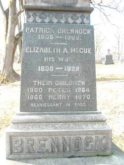 Elizabeth A. <i>McCue</i> Brennock