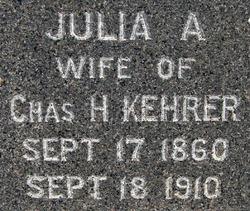 Julia Ann Jo <i>Fuller</i> Kehrer