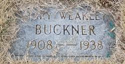 Mary <i>Weakley</i> Buckner