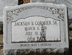 Jackson B Cormier, Sr