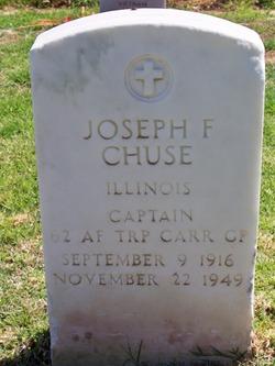 Capt Joseph F Chuse